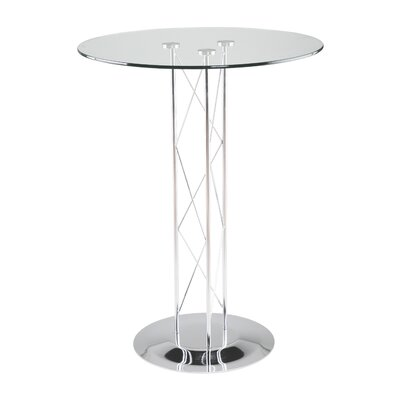 "Eurostyle Trave 36"" Pub Table with Chrome Finish"