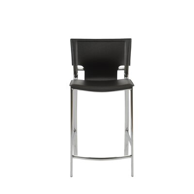 Vinnie Leather Counter Stool Set in White
