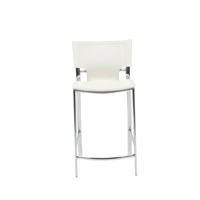 Eurostyle Vinnie Leather Counter Stool in White