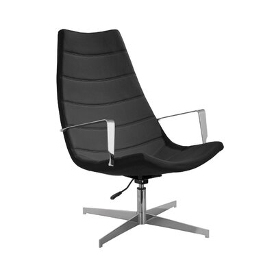 Domino Leatherette Lounge Chair