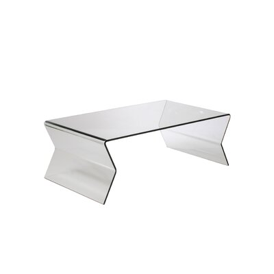 Giacomo Glass Coffee Table in Clear