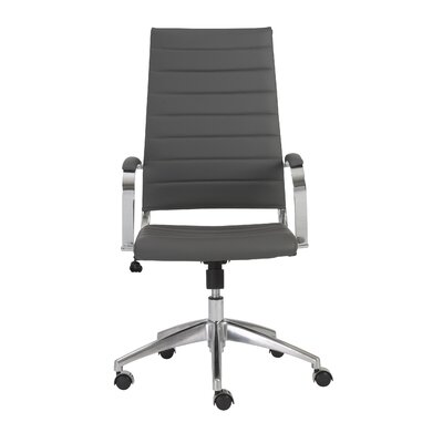 Eurostyle Axel High-Back Leatherette Office Chair with Arms