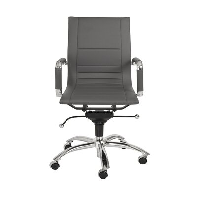 Eurostyle Owen Low-Back Leatherette Office Chair with Arms