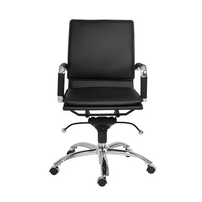 Eurostyle Gunar Pro Low-Back Leatherette Office Chair with Arms