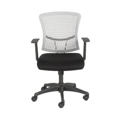 Eurostyle Finley Mid-Back Leatherette Office Chair with Arms