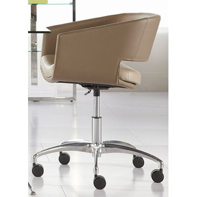 Eurostyle Amelia Low-Back Leatherette Office Chair with Arms