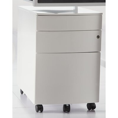 Eurostyle Floyd 3-Drawer Mobile Filing Cabinet