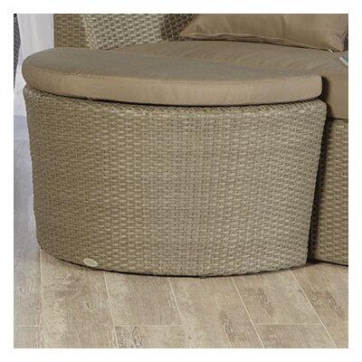Eurostyle Linda Ottoman with Cushion
