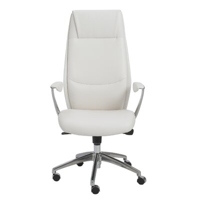 Crosby High-Back Leatherette Office Chair with Arms