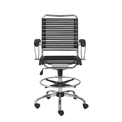 Eurostyle Bungie High-Back Office Chair with Flat J-Arm and Ring