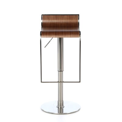 Eurostyle Forest Adjustable Bar Stool in Walnut