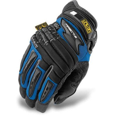 Mechanix Wear Large Blue M-Pact® 2 Mechanics Gloves With Double Layer Synthetic Leather Palm And Spandex Wrist Panel Insert
