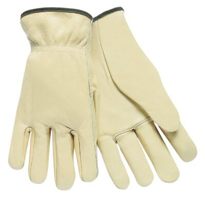 Memphis Glove Unlined Drivers Gloves - small economy grade grain driver shirred ela