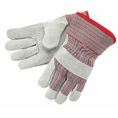 "Memphis Glove Industrial Standard Shoulder Split Gloves - economy shldr leather palm 2.5"" rubberized cuff"