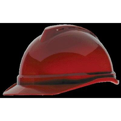 MSA V-Gard® Advance Class C Type I Polyethylene Vented Hard Cap With Fas-Trac® 6-Point Suspension And Glaregard™ Underbrim