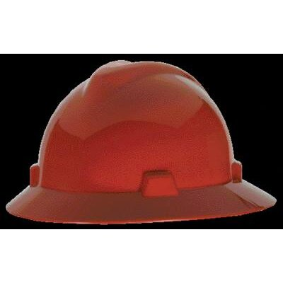 MSA V-Gard® Class E, G Type I Polyethylene Non-Slotted Hard Hat With Staz-On® Suspension