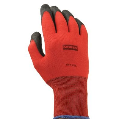 North Safety NorthFlex™ Foamed PVC Palm Coated Gloves - northflex red nylon/foampvc glove 6xs 10 gauge