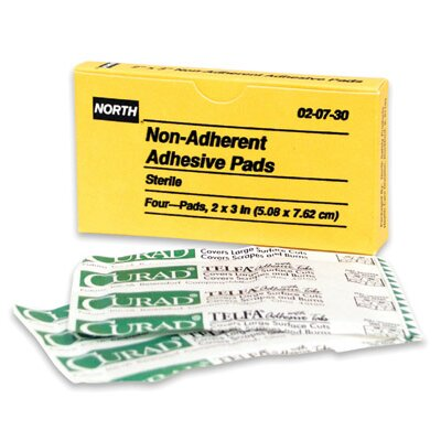 "North Safety X 3"" Latex Free Plastic Adhesive Bandage Patch (4 Per Box)"