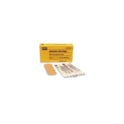 "North Safety X 3"" Latex Free Plastic Adhesive Bandage Strip (16 Per Box)"