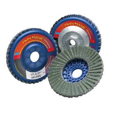 Norton Type 27 TwinStar Flap Discs - twin star 7x5/8-11 type27 flap disc 60 grit