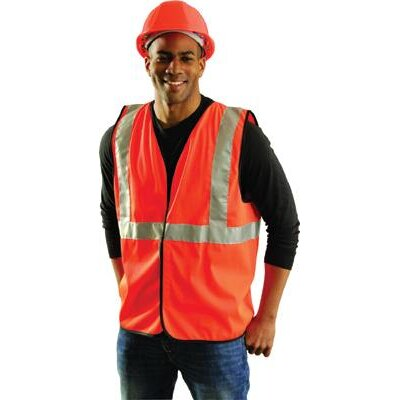 OccuNomix Orange OccuLux® Economy Single Band Traffic Vest With Hook And Loop Closure And 3M™ Scotc