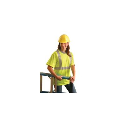 OccuNomix OccuLux® High Visibility Fluorescent Yellow Wicking Polyester Class 2 T-Shirt With 3M™ Scotchlite™ Reflective Tape
