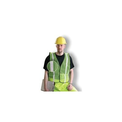 "OccuNomix Yellow Mesh Safety Vest With 1"" Silver Silver Glass Bead Reflective Tape (Non ANSI Compliant)"
