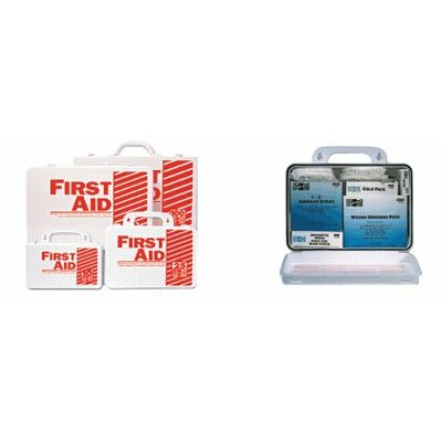 Pac-Kit 10 Person Contractor's First Aid Kits - weatherproof plastic basix #10 first aid kit
