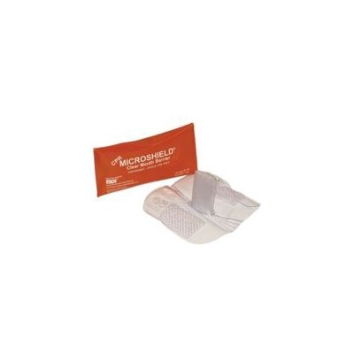 Pac-Kit CPR Microshield™ Masks - cpr microshield in orange pouch 70-150