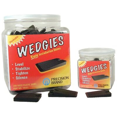 Precision Brand Wedgies™ Installation Shims - the wedgie - black rigidshim - 200 pieces