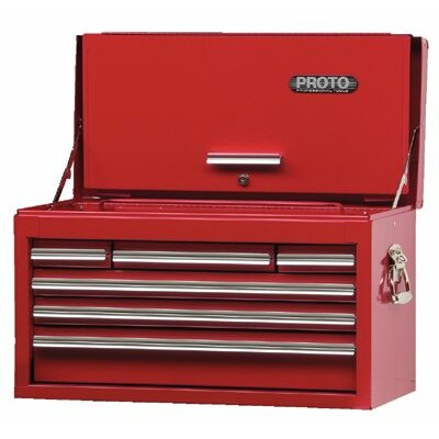 "Proto 440SS Top Chests w/Drop Front - red drop front chest 27x15"" 6 drawer"