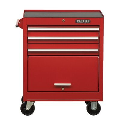 Proto 440SS Tool Cabinets - red 4 drawer roller cabinet 27x42&quot;