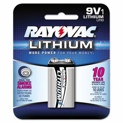 Rayovac Lithium 9 V Battery (8 Pack)