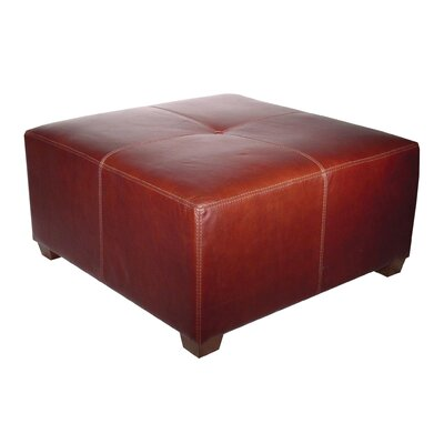 Nordic Leather Cocktail Ottoman