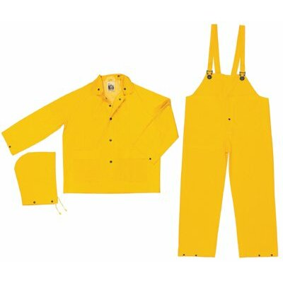 River City Classic 3-Piece Flame Resistant Rain Suits Classic .35Mm Pvc/Poly Flame Resist Suit 3 Pc Yw: 611-Fr2003X6 - classic .35mm pvc/poly flame resist suit 3 pc yw