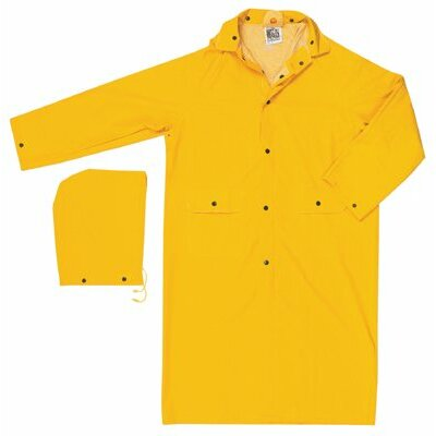 "River City Classic Rain Coats Classic  .35Mm  Pvc/Polyester  49"" Coat  Yellow: 611-200Cs - classic  .35mm  pvc/polyester  49"" coat  yellow"