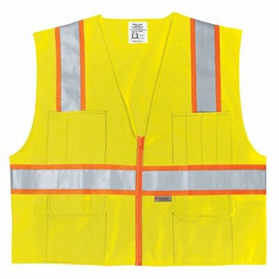 River City Luminator Class Ii Surveyors Vests Class 2 Poly Safety Vest3 Org/Silv: 611-Survlx2 - class 2 poly safety vest3 org/silv