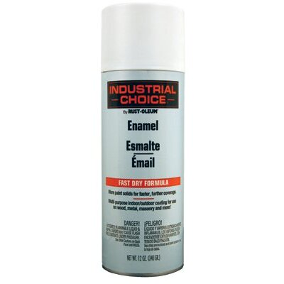 Rust-Oleum Rust-Oleum - Industrial Choice 1600 System Enamel Aerosols 830 Flat White Ind. Choice Paint 12Oz. Fil. Wt.: 647-1690830 - 830 flat white ind. choice paint 12oz. fil. wt.