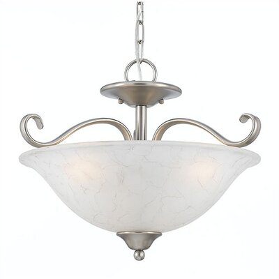 Quoizel 2 Light Duchess Semi Flush Mount