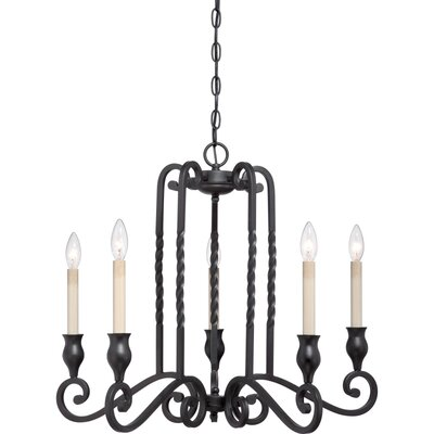 Atrium 5 Light Candle Chandelier