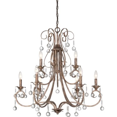 Capulin 8 Light Candle Chandelier