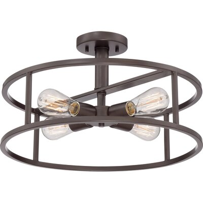 Quoizel New Harbor 4 Light Semi-Flush Mount