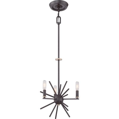 Quoizel Uptown Carnegie 3 Light Chandelier
