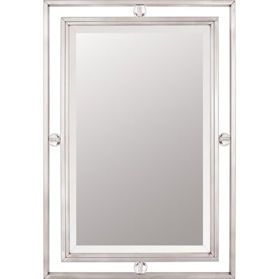 Quoizel Downtown Mirror in Brushed Nickel