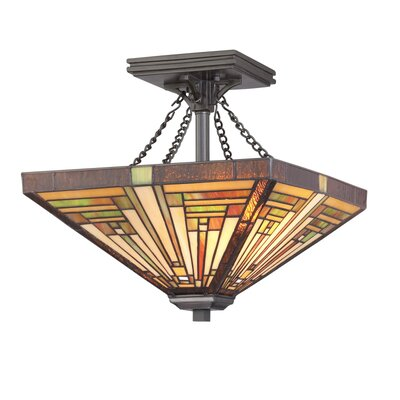 Quoizel Stephen 2 Light Semi Flush Mount