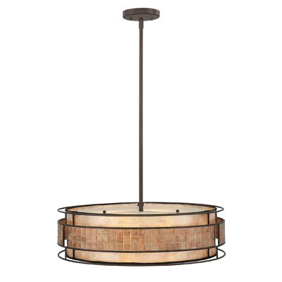 Quoizel Mica 4 Light Drum Pendant
