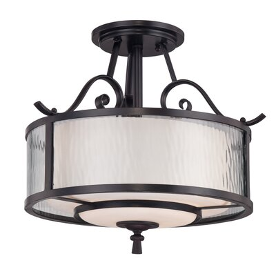 Quoizel Adonis 3 Light Semi Flush Mount