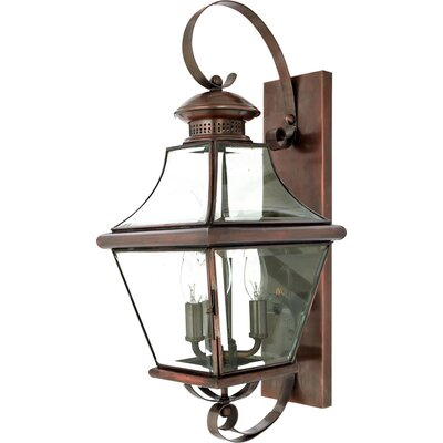 Quoizel Carleton Oula 3 Light Outdoor  Wall Lantern