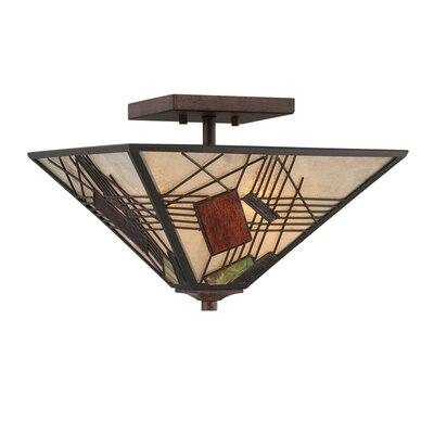 Quoizel Russell 3 Light Semi Flush Mount