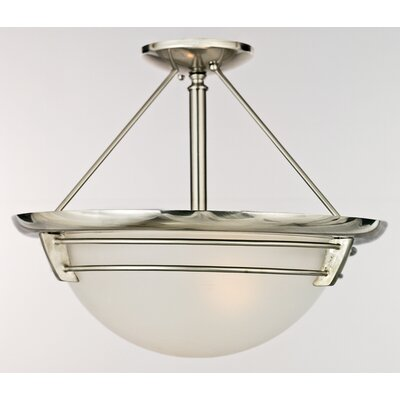 Quoizel New England 3 Light Semi-Flush Mount